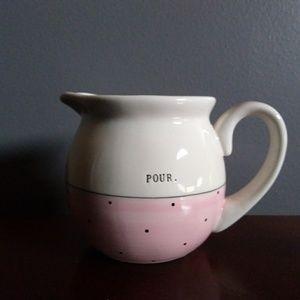 Rae Dunn Pink Pour Polka Dot Creamer